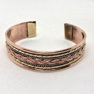🆕Vintage Copper and Brass Cuff Bracelet
